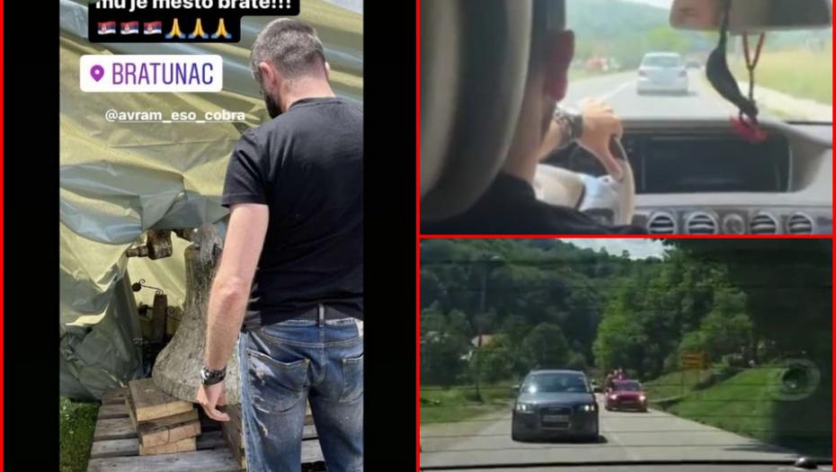 """""""ŽIVEĆE OVAJ NAROD!"""" Baja Mali Knindža grmi iz automobila, mladi Srbi otišli da poljube krst sa srušene crkve i zakleli se - Vratićemo ga na novu, veću! (FOTO)"""