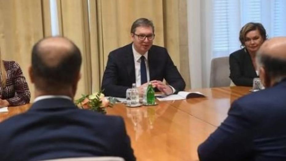 VUČIĆ NA SASTANKU SA HUSEINOM Predsednik Srbije razgovarao sa ministrom spoljnih poslova Iraka(FOTO) thumbnail