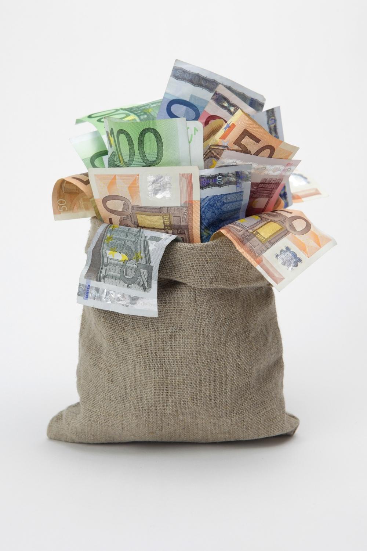 Novac Evro Džak Vreća puna para nova evra