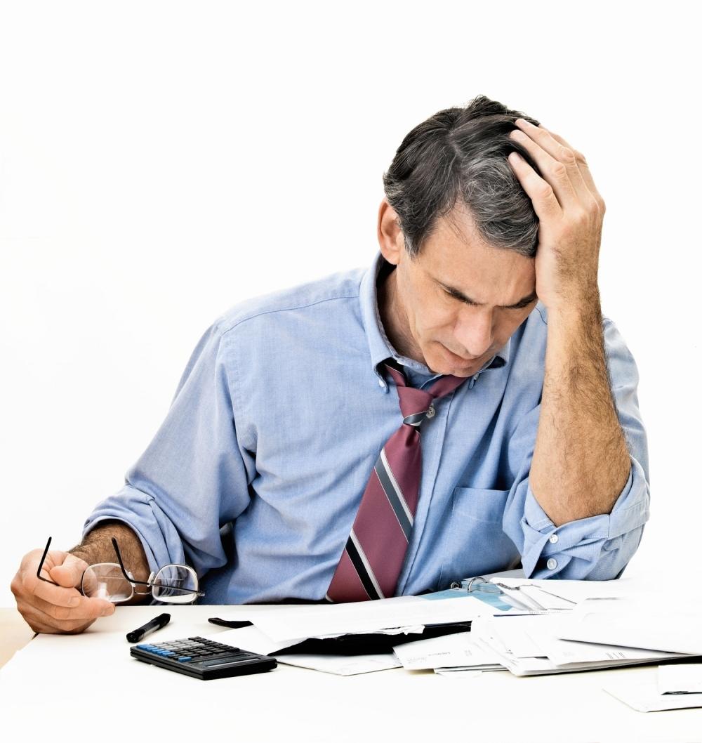 Muškarac Računi Finansije Novčani finansijski problemi