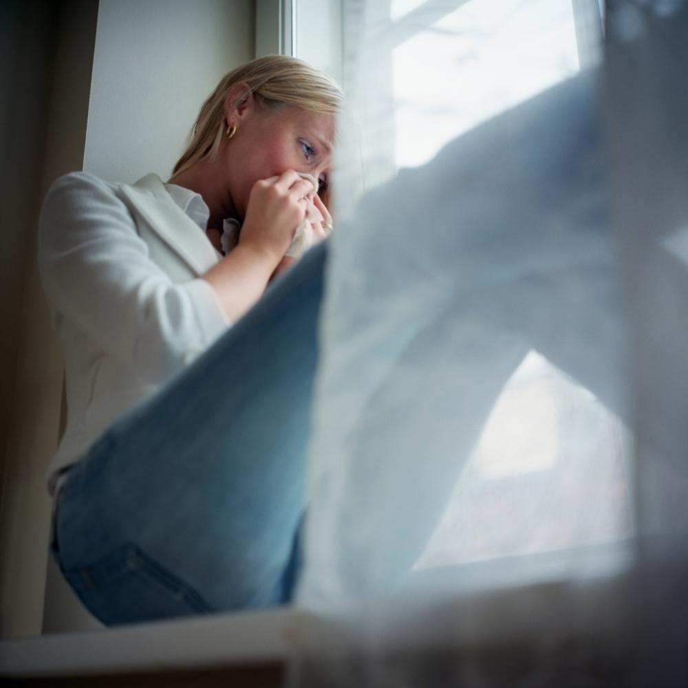 tužna žena