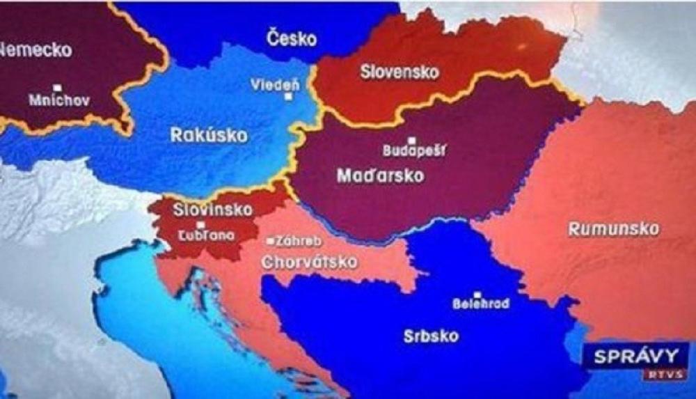 slovacka mapa Slovačka pripojila BiH Srbiji   alo.rs slovacka mapa