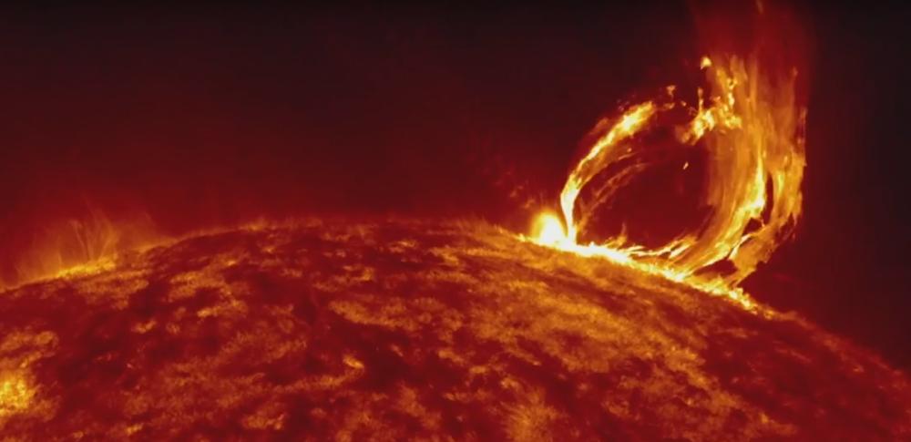 Solarna oluja na Suncu
