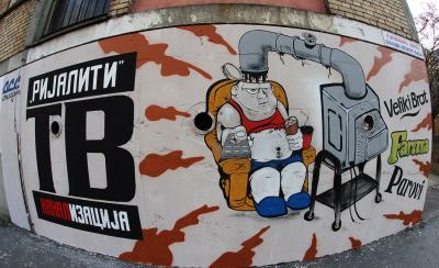 Mural protiv rijalitija foto for Mural u vukovarskoj ulici