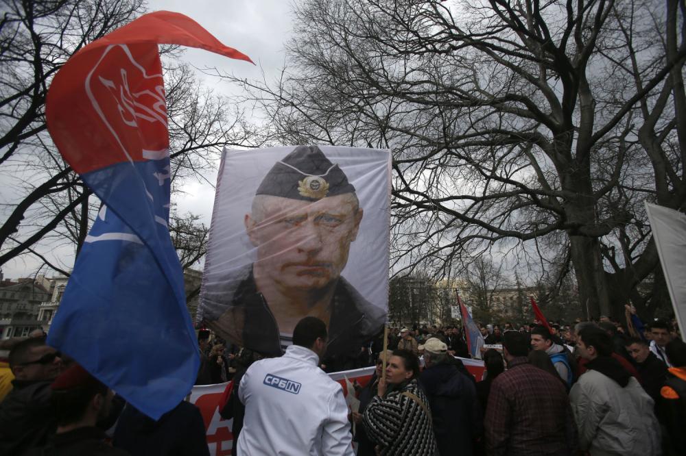 Protest protiv Sporazuma Srbije sa NATO