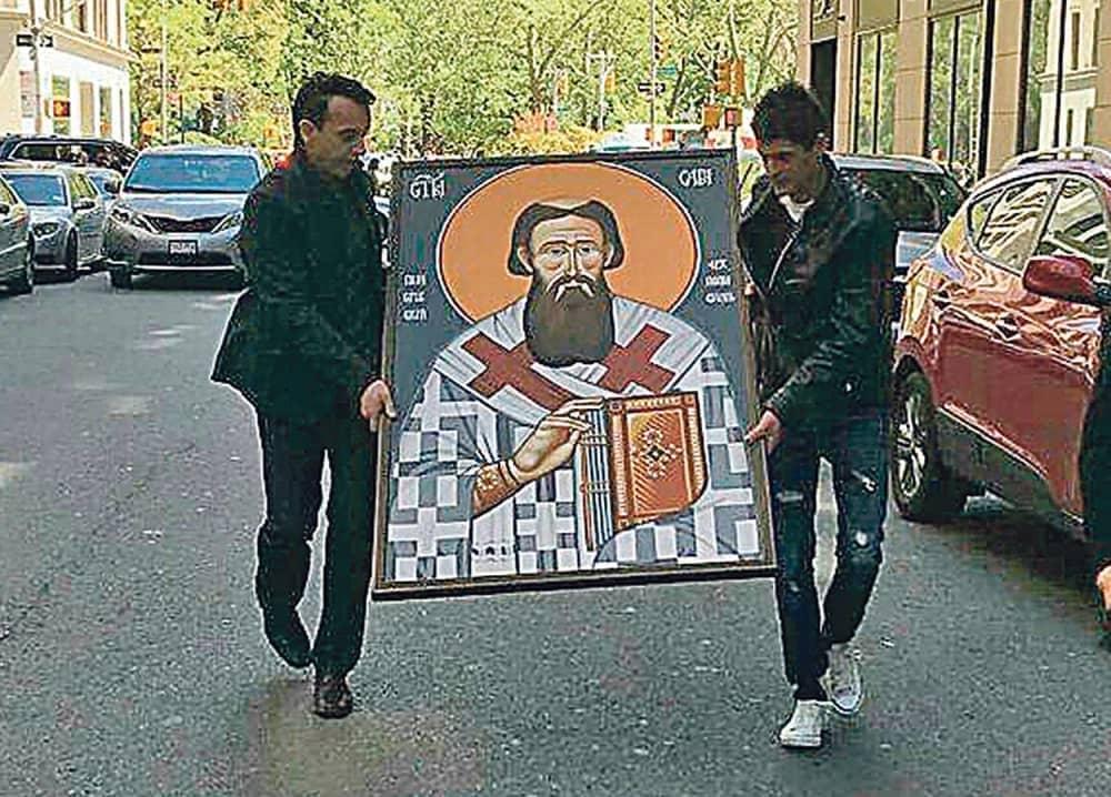cudo sacuvana ikona svetog save od pozara