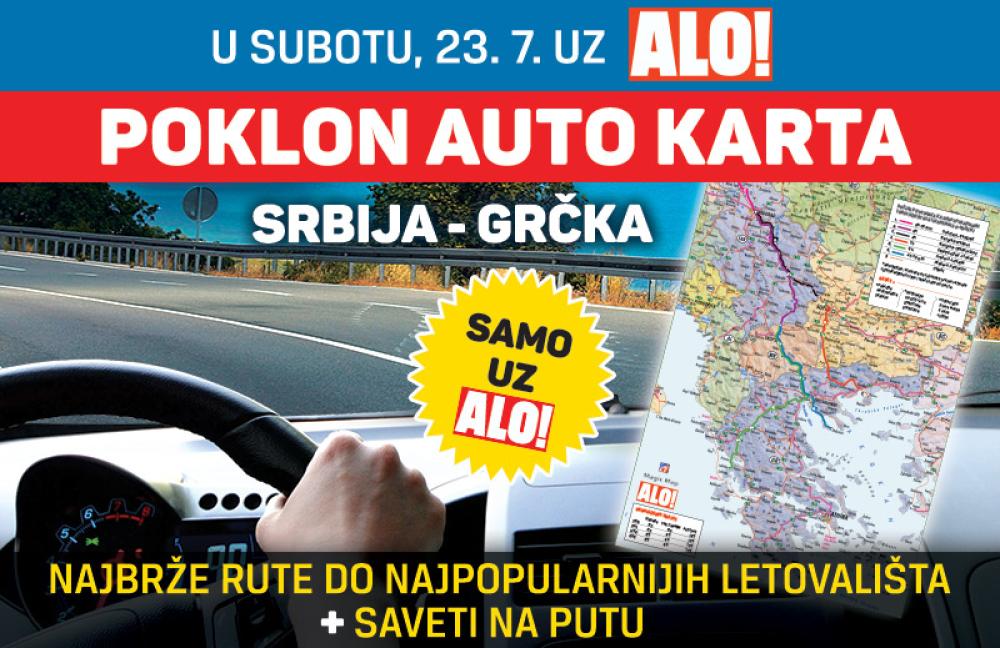 najnovija auto karta srbije Poklanjamo auto kartu Srbija   Grčka!   alo.rs najnovija auto karta srbije
