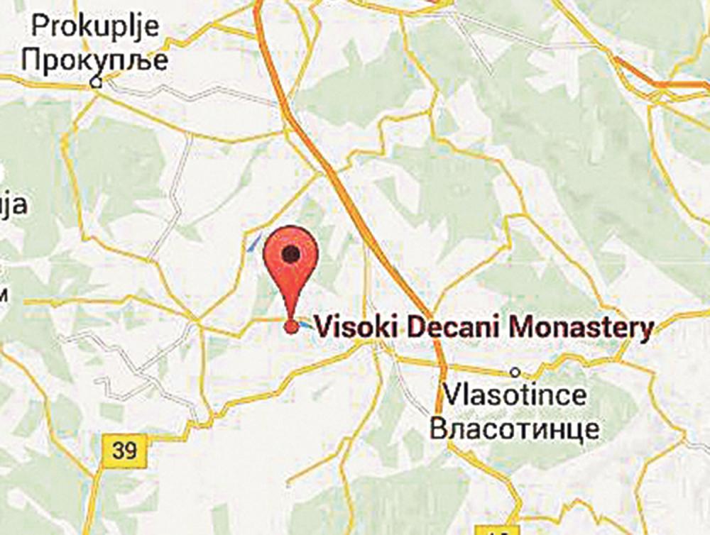 mapa leskovca Dečane zamenili bordelom   alo.rs mapa leskovca
