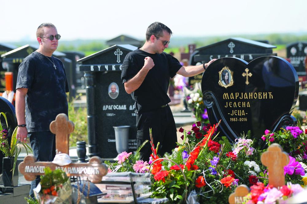 Jelena Marjanović groblje Zoran Marjanović