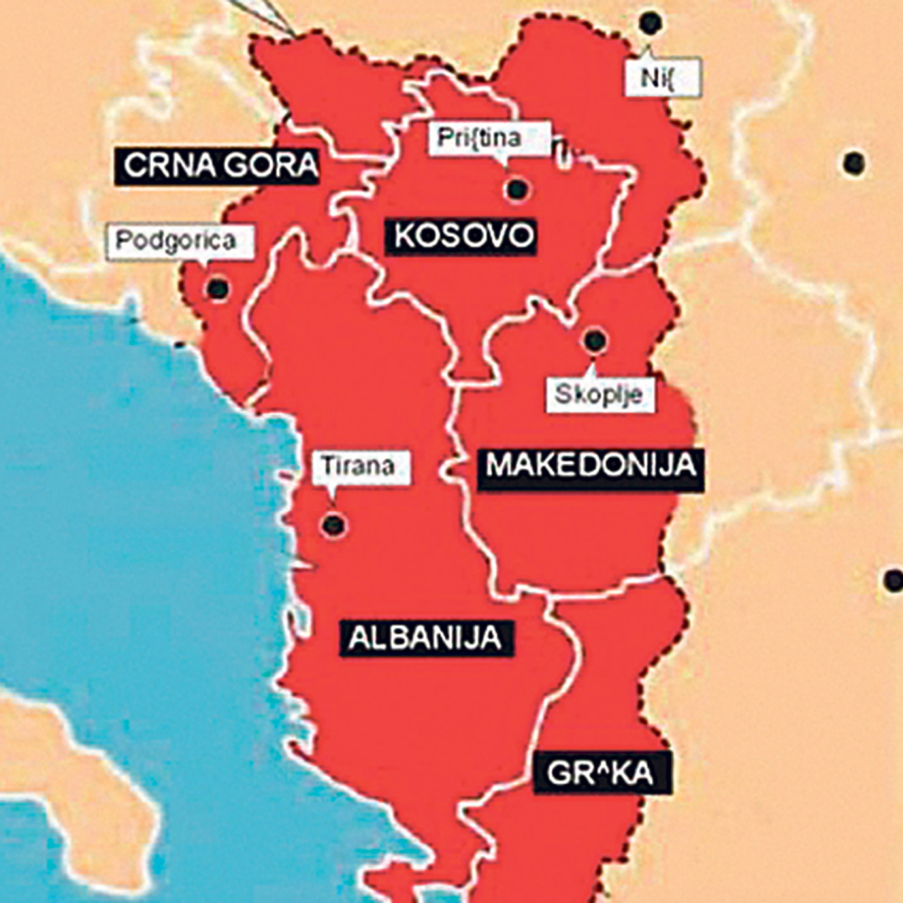 Granice Velike Albanije Ove Srpske Gradove Zele U Svojoj Drzavi