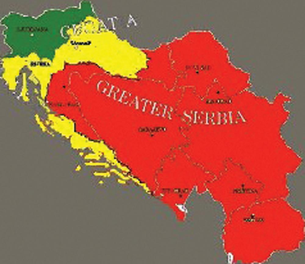 karta velike srbije Velika Srbija je garant mira Balkanu!   alo.rs karta velike srbije