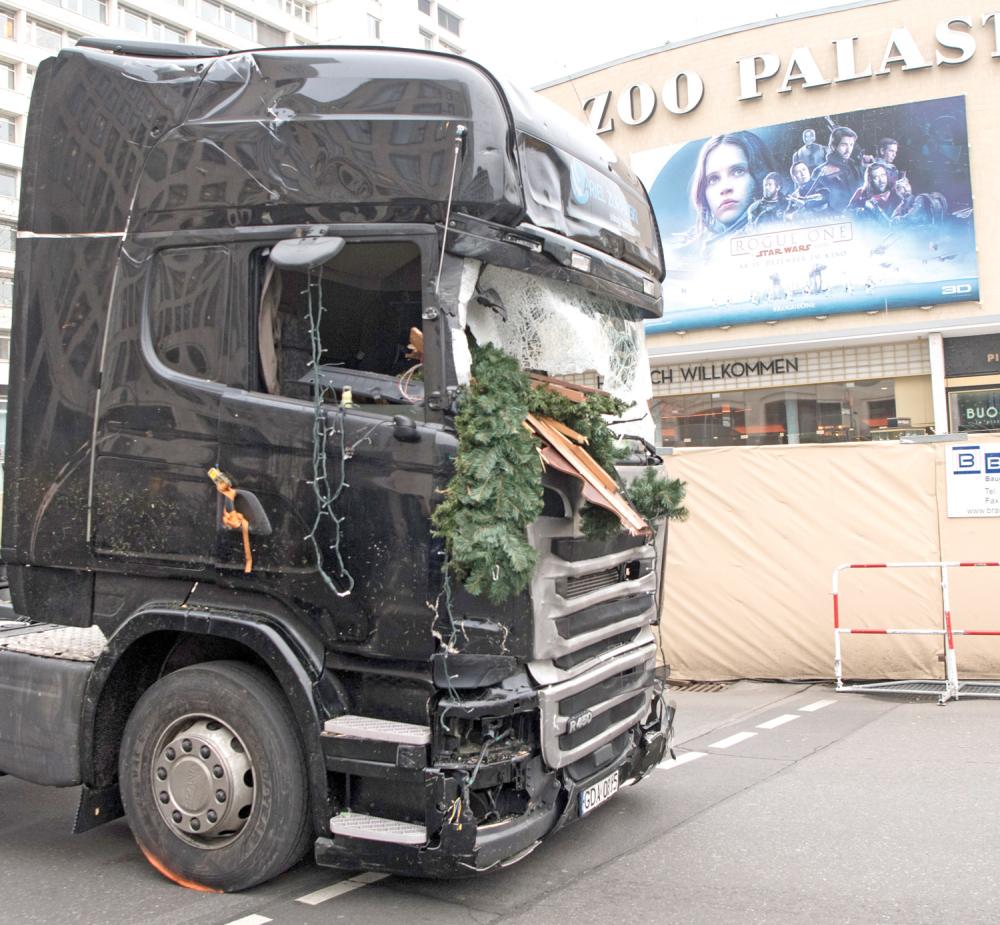 Kamion kojim je terorista počinio masakr