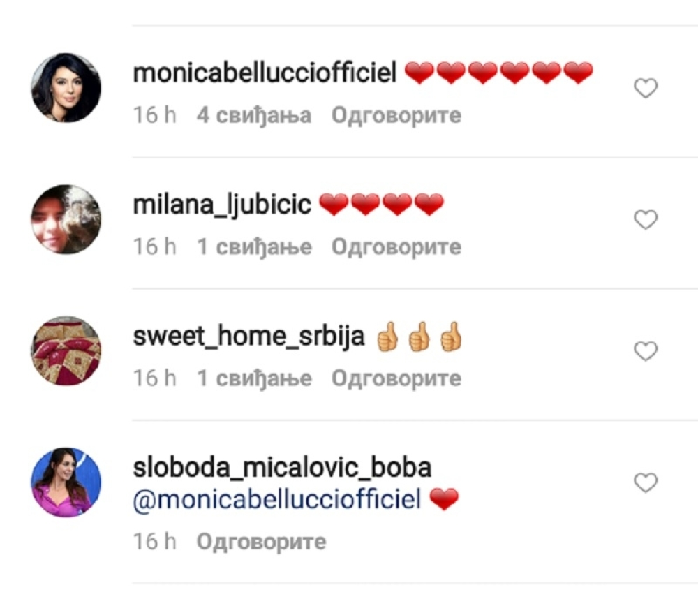 Monika i Sloboda na Instagramu