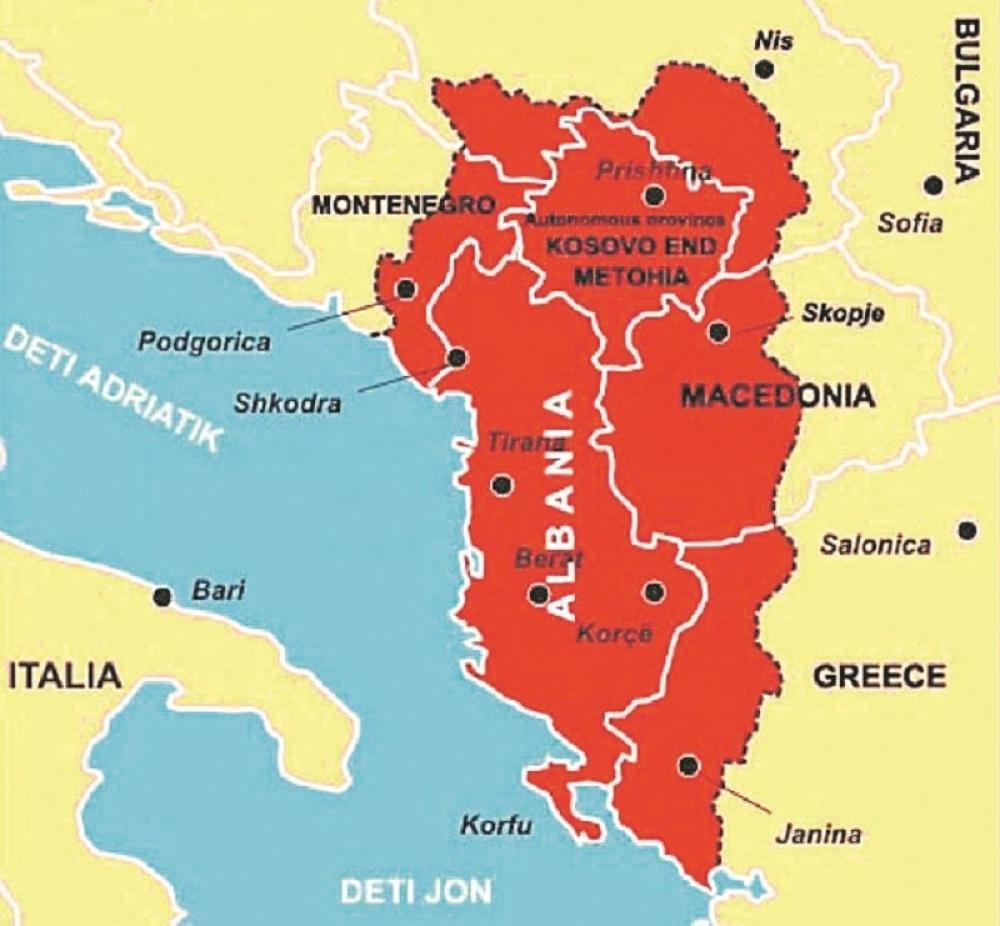Zastava Velike Albanije Vijori Se Kod Kopaonika Uz Pomoc Nato
