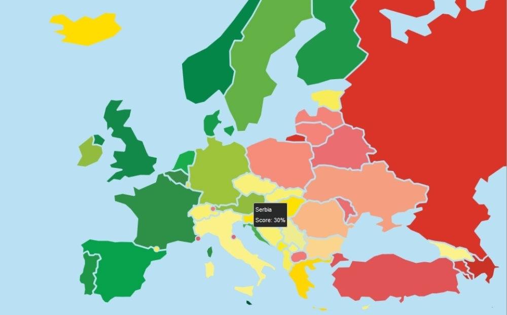 Objavljena Gej Mapa Evrope Evo Gde Je Srbija Alo Rs