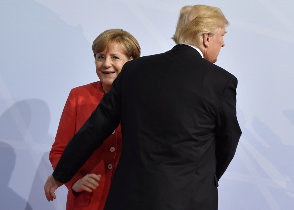 Donald Tramp i Angela Merkel