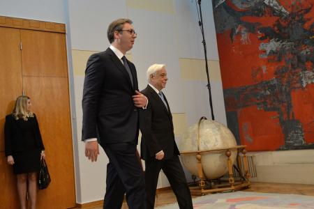Aleksandar Vučić i Prokopios Pavlopulos