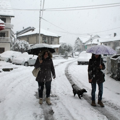 Prvi sneg u Srbiji
