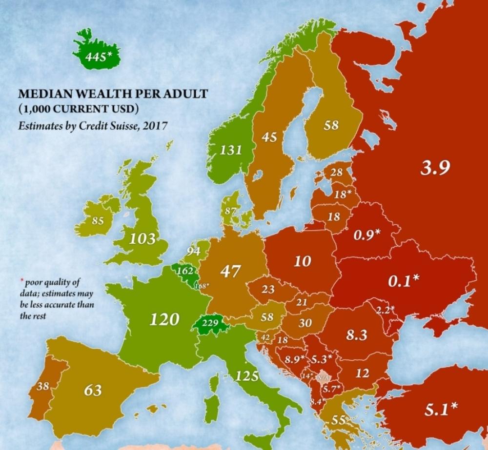 Objavljena Karta Bogatstva Evrope Evo Gde Je Srbija Alo Rs