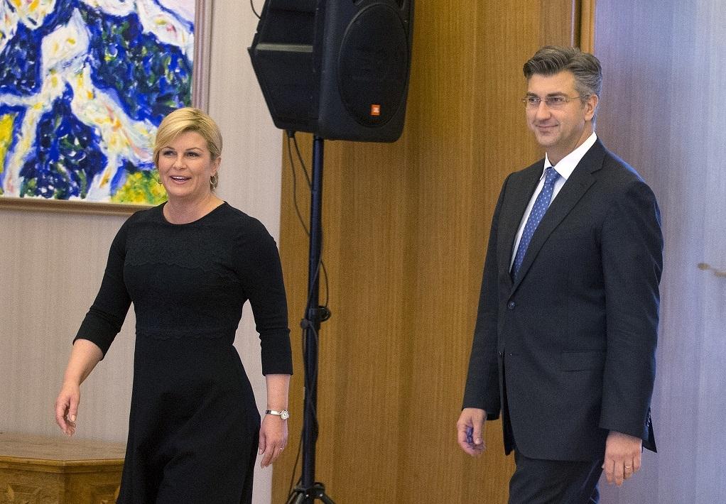 Kolinda se obratila novinarima, zbog onoga što je rekla svi je gledali belo, a onda se ubacio i Plenkoviæ, i šou je poèeo!