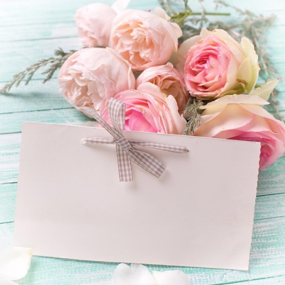 Čestitka, cveće