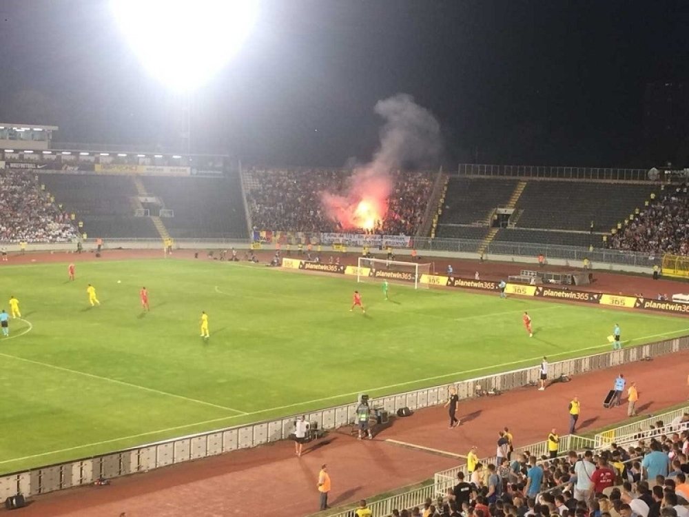 Navijači Rumunije na utakmici sa Srbijom