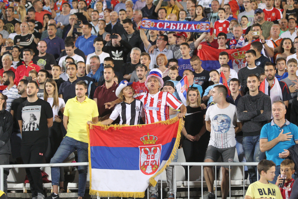 Navijači reprezentacije Srbije