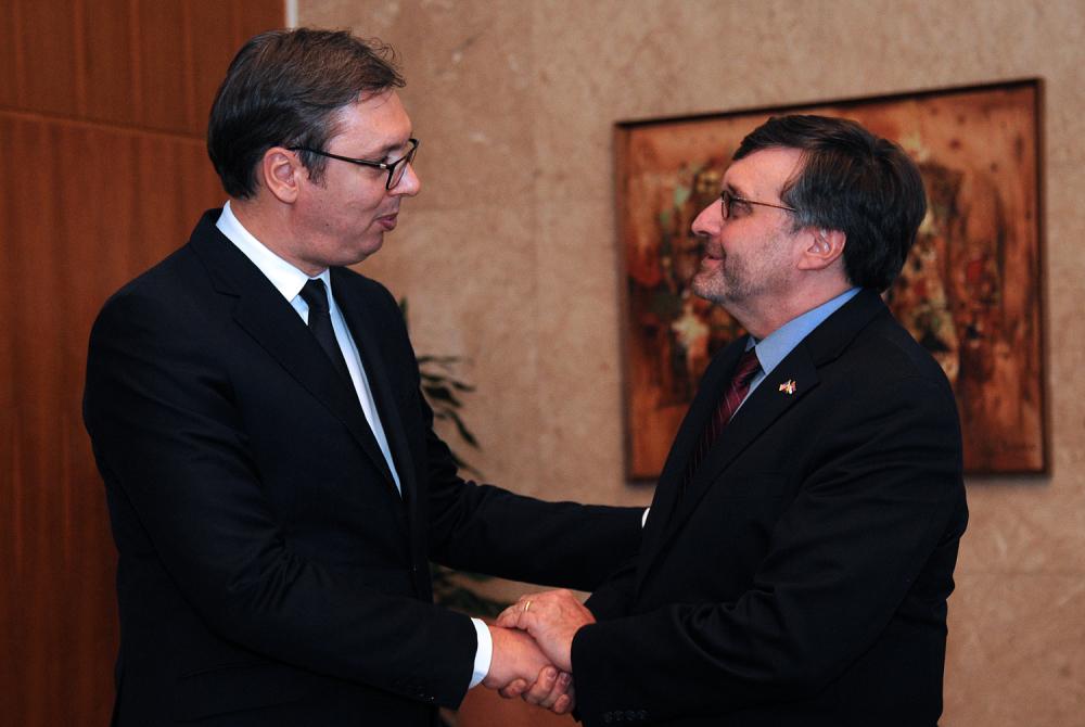 Aleksandar Vučić i Metju Palmer