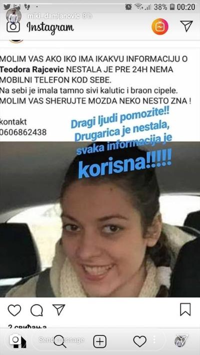 Miss Teodora Rejcevic disappeared