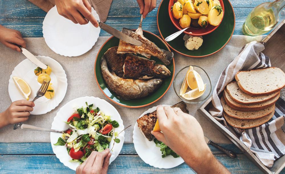 Post, posna hrana, riba, salata