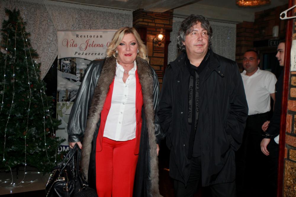 Snežana Đurišić with partner Vanjko Milošević