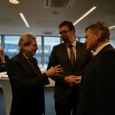 Aleksandar Vučić u Briselu