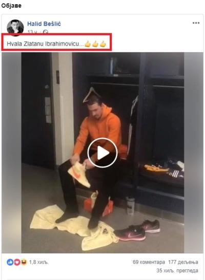 Status of Halid Bešlić on Instagram