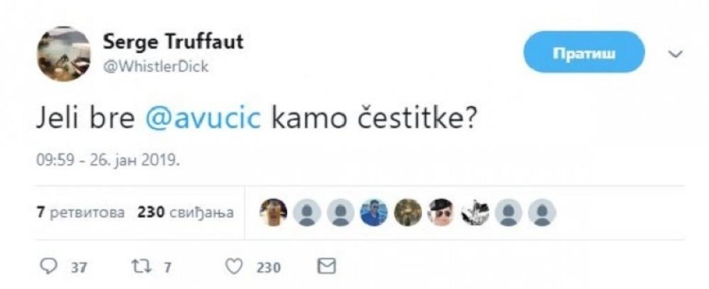 Tvit Sergeja Trifunovića