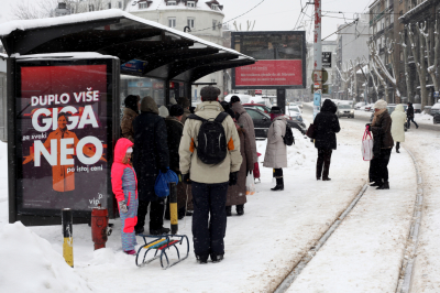 snow, belgrade, people, streets, weather