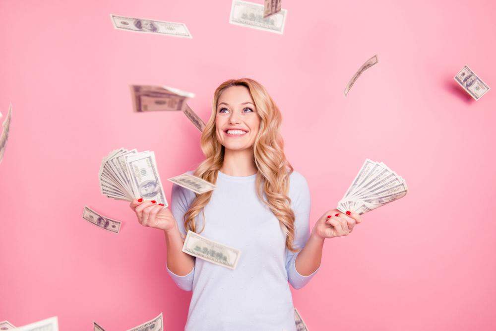 Novac, žena, sreća, bogatstvo, pare