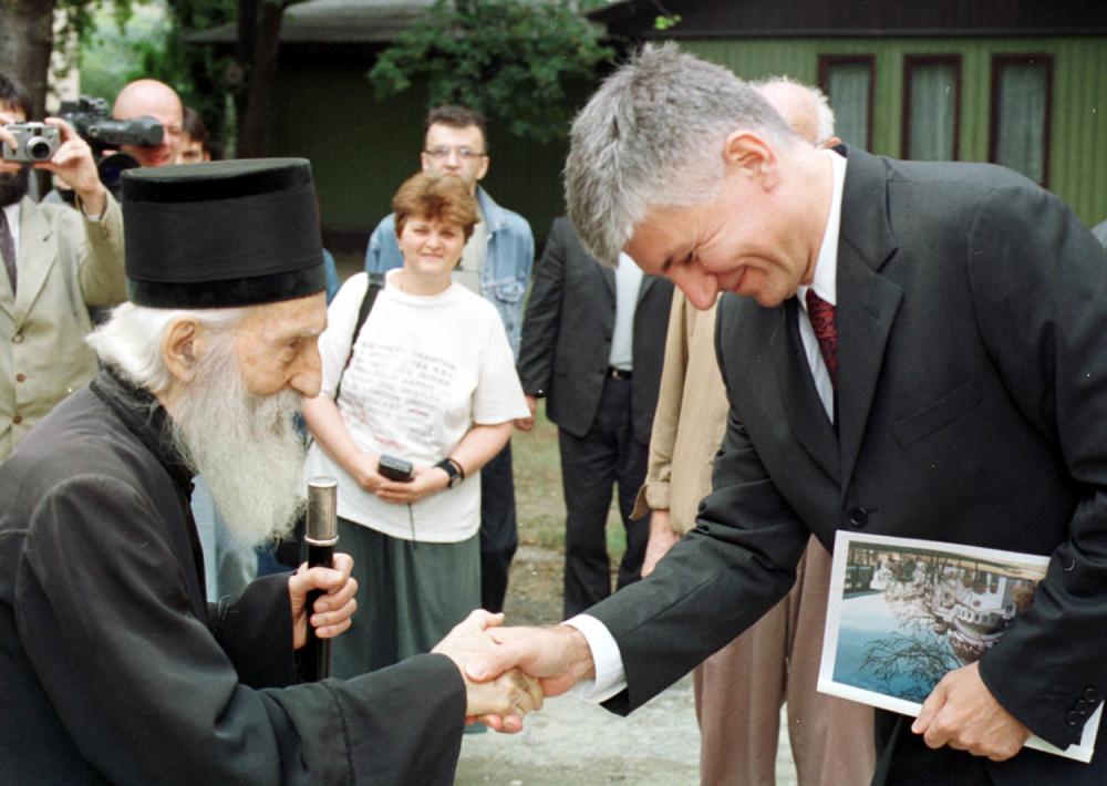 Patrijarh Pavle i Zoran Đinđić
