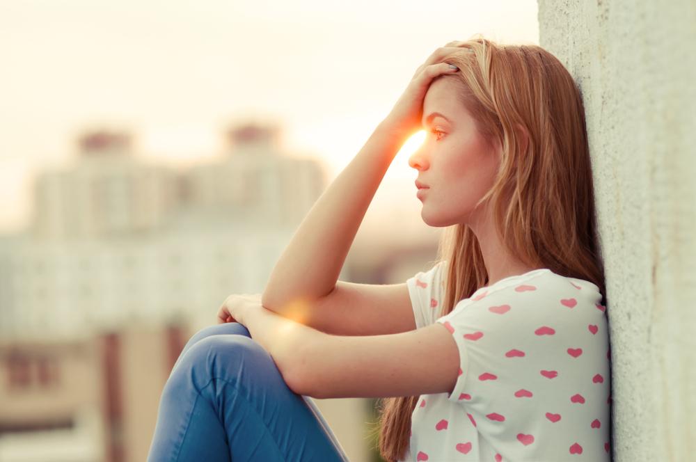 Žena, tuga, raskid, samoća, depresija