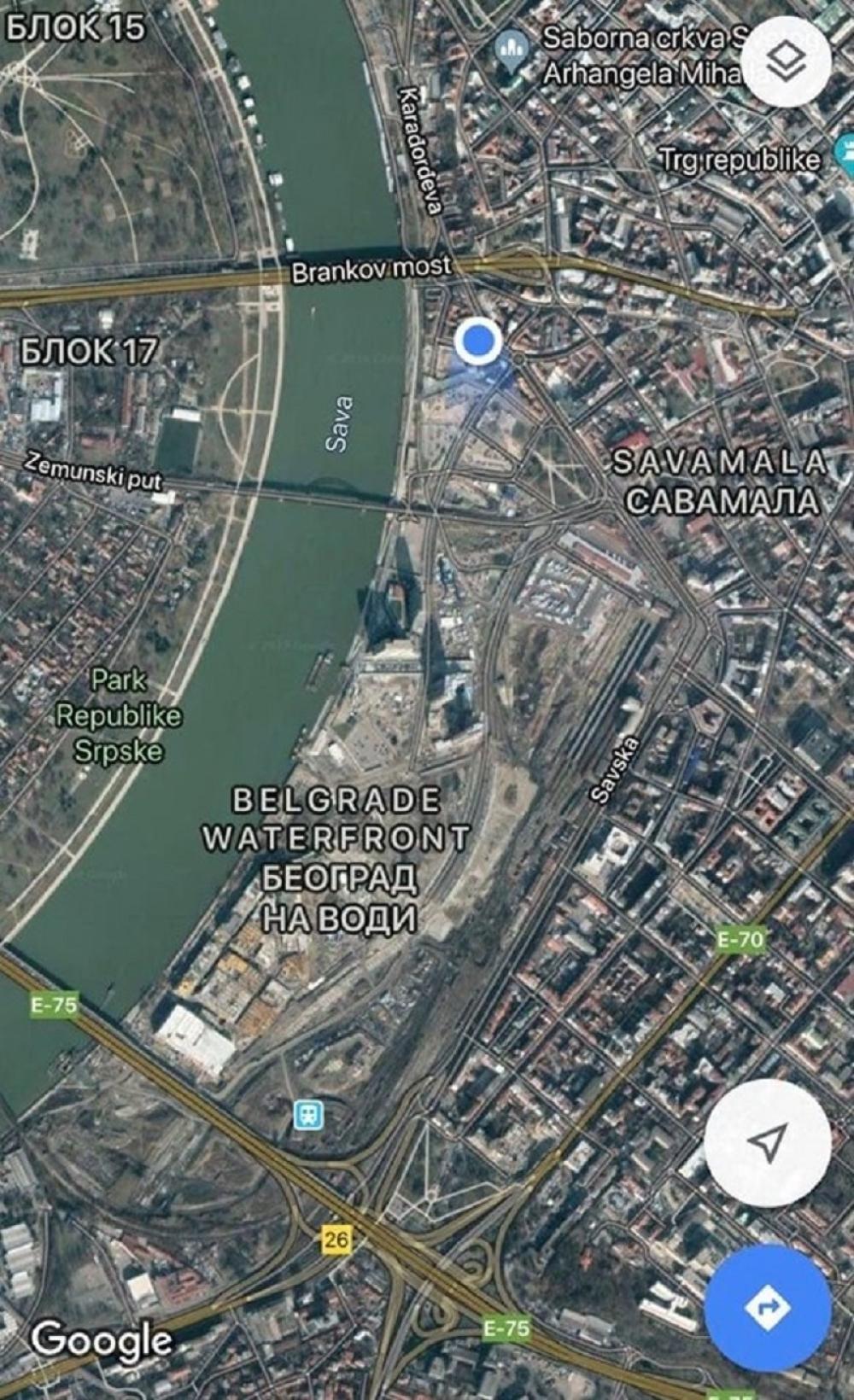 Gugl Map Stavio Beograd Na Vodi Na Mapu Sveta Foto Alo Rs