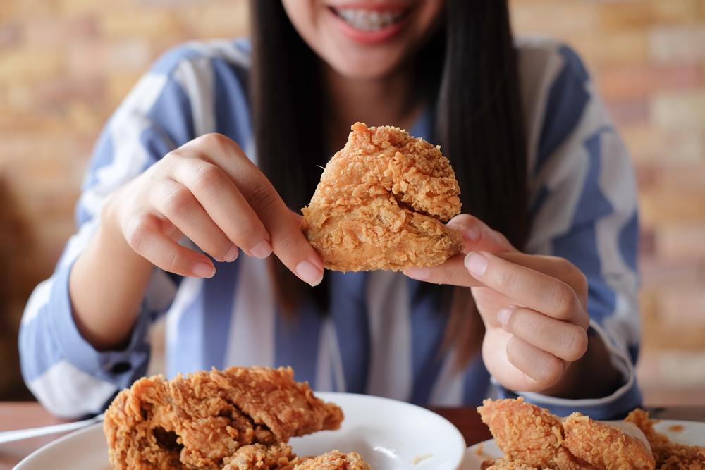 piletina, žena, hrana