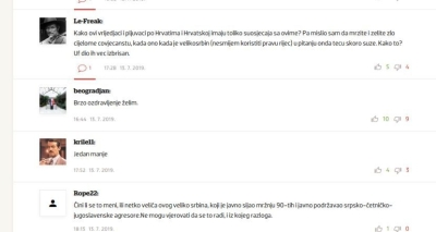 Comments by Croats on Mihajlovic's disease