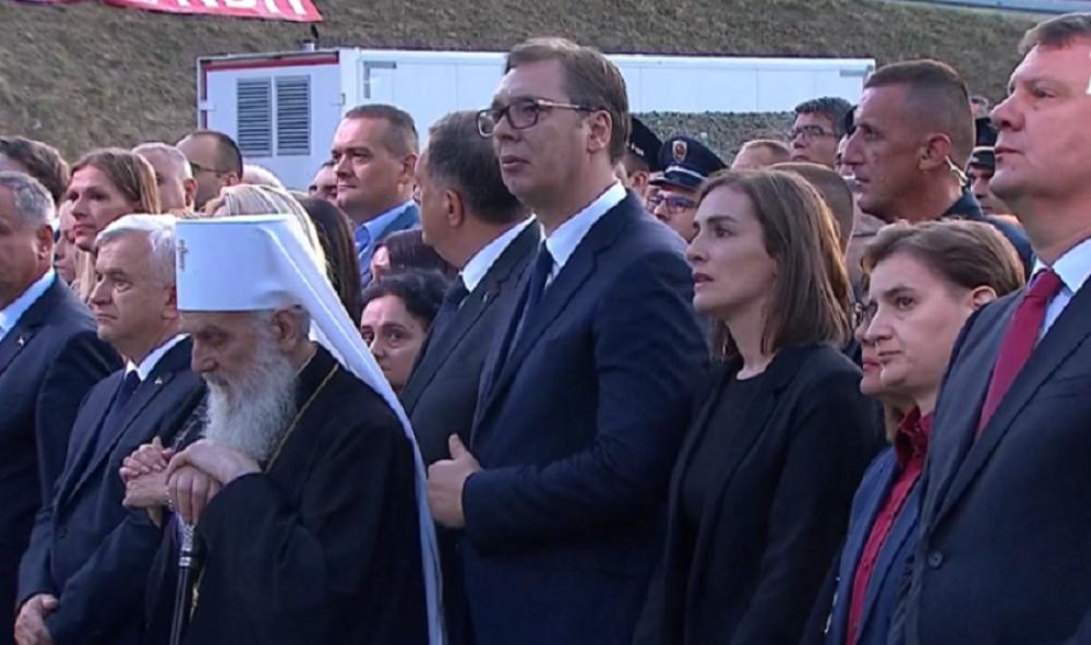 Aleksandar Vučić plače na godišnjici Oluje