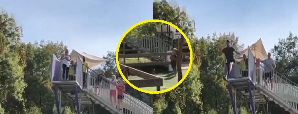 Prvo je Jelena skoèila sa velike visine pa onda i Novak! Ðokoviæi zajedno pobeðuju fobije, uplašeni Stefan navijao za mamu i tatu iz daljine! (VIDEO)