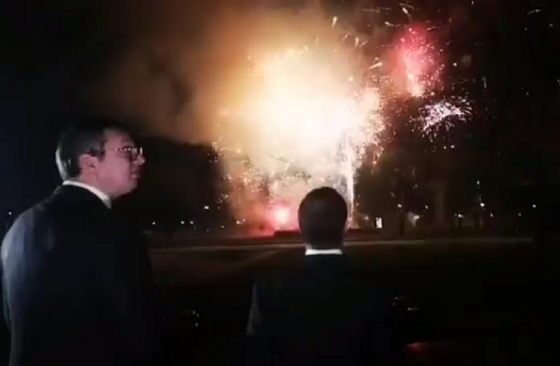 Vatromet i topovi odjekivali Beogradom! Vuèiæ i Medvedev oduševljeno gledali pred sobom (VIDEO)