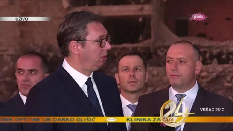 Vuèiæ stigao u Vranje na otvaranje pozorišta