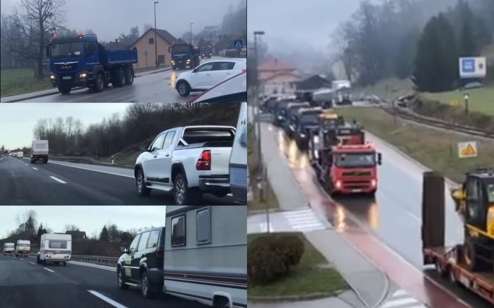 Iz Slovenije i drugih zemalja krenuli šleperi, Istra poslala kamp-kućice  (VIDEO) - alo.rs