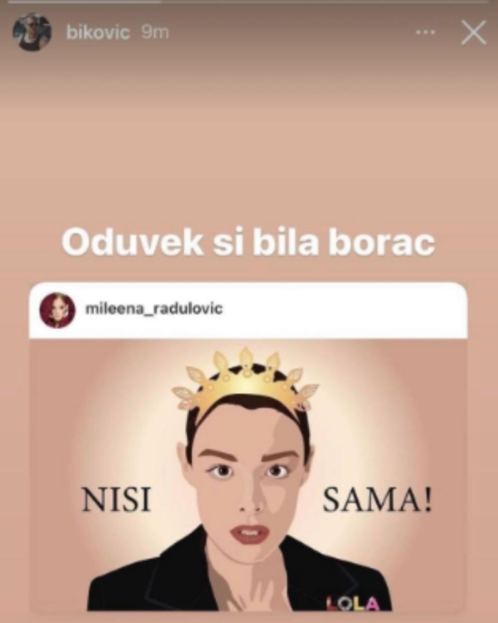 Podrška Mileni
